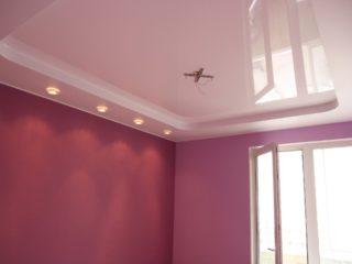 потолок типа глянец