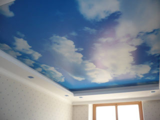 потолок в виде неба