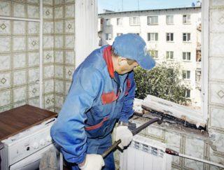 работа по демонтажу окна